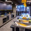 Multi-purpose room and common kitchen