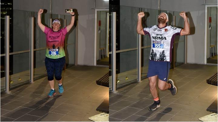 Brisbane Vertical Night Sprint finishing line