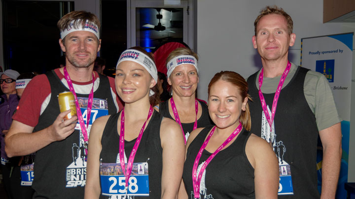 Group of Brisbane Vertical Night Sprint finishers