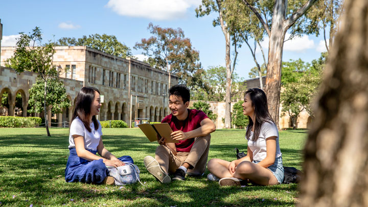 Students at UQ